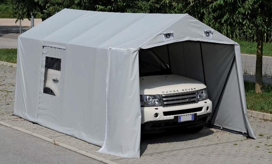 Box auto ventilato Ricovero per auto pvc Speedy Box riparazione invernale PROFESSIONALE Misure 2,5 mt X 5,3 mt