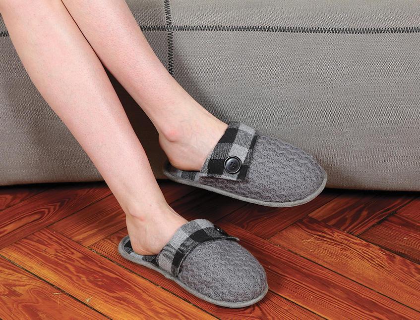 Pantofole Baboosh Plaid Kanguru Unisex Taglia S