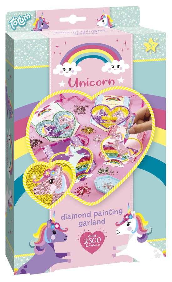 Diamond Painting Garland - Set Decorazione Unicorni con gli strass