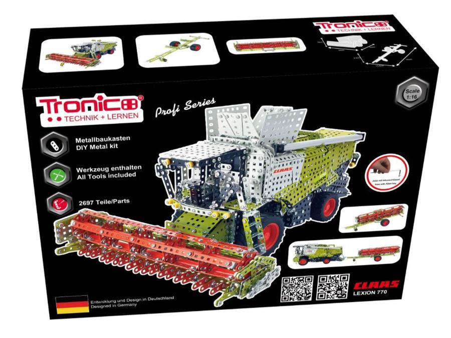 Kit costruzioni in Metallo Trebbiatrice Claas Lexion 770 scala 1:16 telecomandata di Tronico