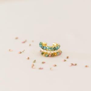 Ear cuff in argento dorato con pietre [ + colori ]