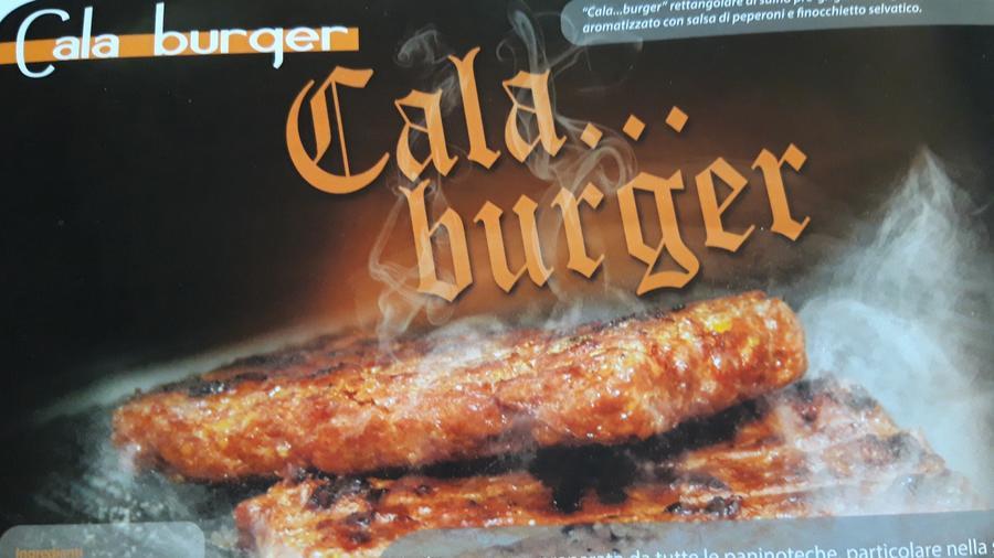 Calaburger, Burger Precotto di Suino Rosa, Sapori d'altri Tempi, 0,140 kg