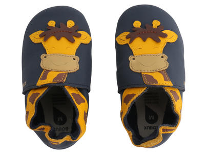 Bobux - Soft Sole  - Giraffe - Navy