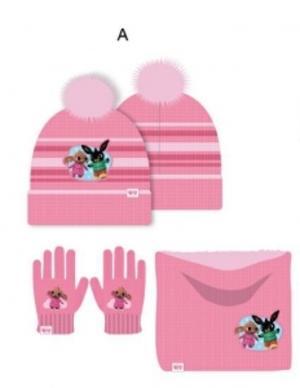 Bing set 3 pz cappello pon pon-scaldacollo-guanti