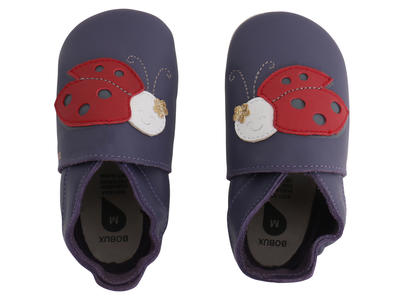 Bobux - Soft Sole  - Ladybird - Purple