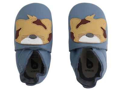 Bobux - Soft Sole  - Leopard - Blue