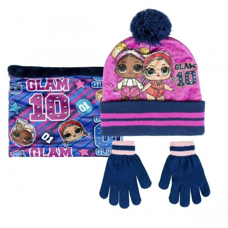 LOL set 3 pz cappello -scaldacollo-guanti