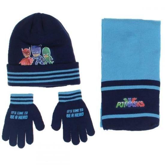 PJMASKS set 3 pz cappello - sciarpa -guanti