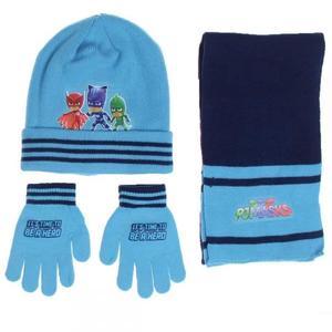 PJMASKS set composto di  3 pz cappello - sciarpa -guanti