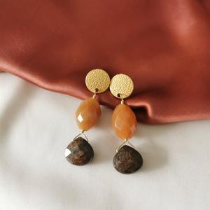 Orecchini con agata e bronzite