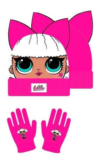 LOL SURPRISE SET CAPPELLO - GUANTI fucsia