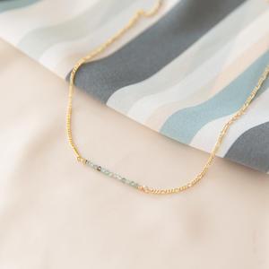 Collana con micro pietre di nascita [+ colori]