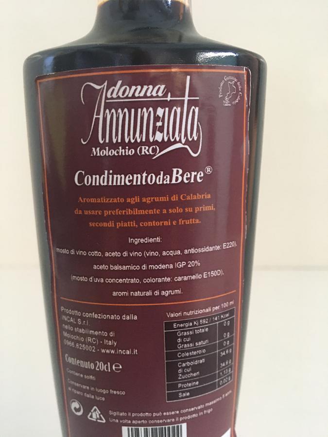 Condimento da Bere Donna Annunziata, Liquori Tedesco, 20 cl
