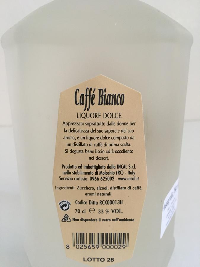 Caffè Bianco, Liquori Tedesco, 70cl
