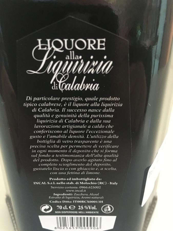 Liquirizia made in Calabria, Liquori Tedesco,70cl