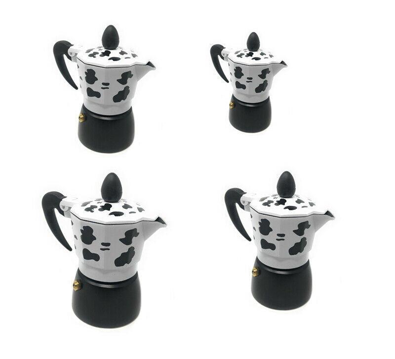 Caffettiera mucca moka 1 2 3 tazze macchina del caffè in alluminio x espresso
