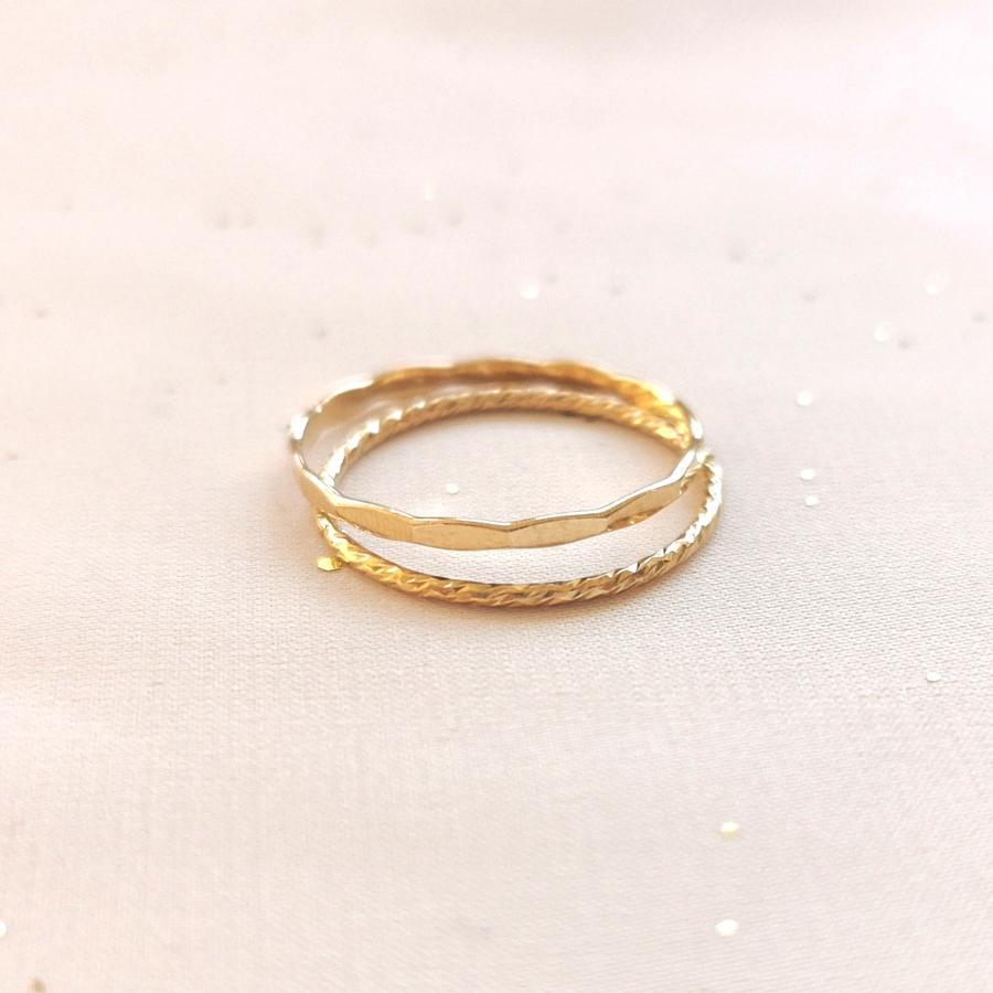 Anello diamantato in gold-filled