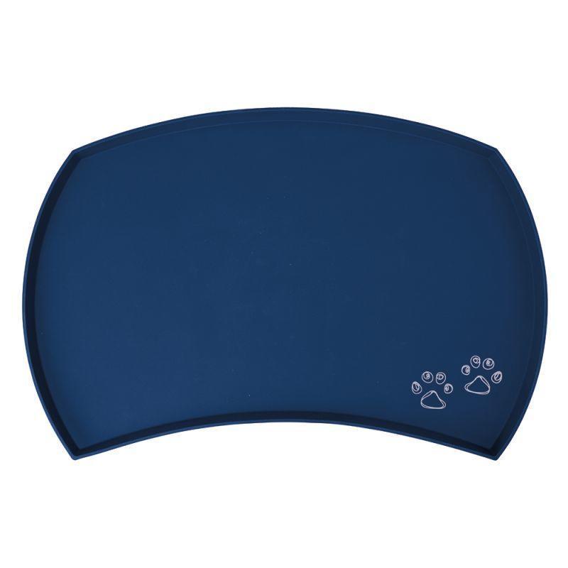 Trixie 24568 Sottociotola in Silicone Blu Per Ciotole Ciotola Per Cani 22 cm