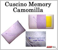 Cuscino Memory Camomilla Aroma Therapy Traforato Sfoderabile