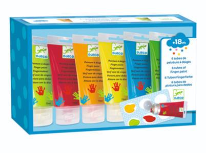 6 Tubetti di colori a dita