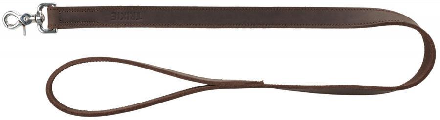 Trixie Rustic XS Guinzaglio in Cuoio Marrone Scuro Per Cani Lungo 1,20m spesso 12mm