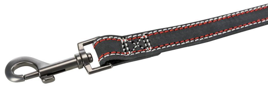 Trixie Native M L Guinzaglio in Pelle Grigio Scuro Per Cani Lungo 1 m spesso 20mm