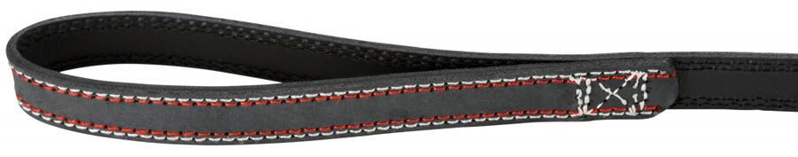 Trixie Native S M Guinzaglio in Pelle Grigio Scuro Per Cani Lungo 1 m spesso 15mm
