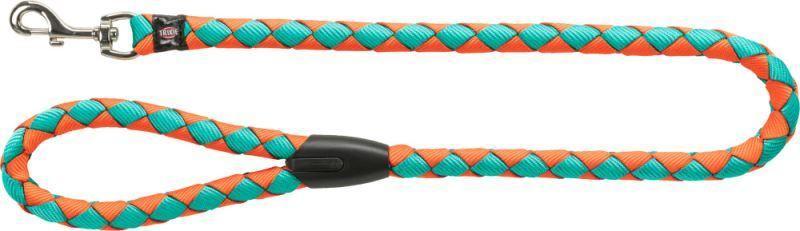 Trixie L XL Guinzaglio Tubolare Per Cani Azzurro Arancione 1 Metro Spesso 18mm