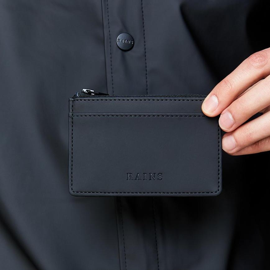 Rains Zip Wallet - Black