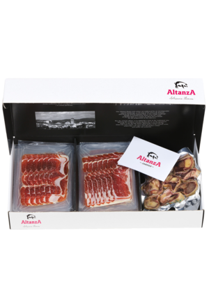 Paleta iberica 100% di bellota  Altanza - jabugo  tagliata in  confezioni da 100 gr