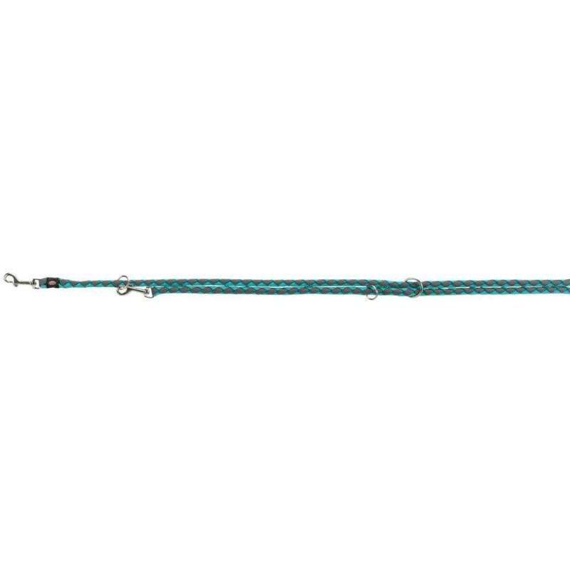 Trixie XL Guinzaglio Tubolare Da Addestramento Per Cani Regolabile Azzurro 2m