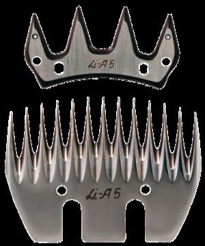 LI A5 / LC A5 pettine e coltello per Ovini per tosatrice Super Profi 3000 originale liscop