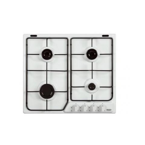 DE LONGHI Piano Cottura YBF46ASV a Gas 4 Fuochi Colore Bianco