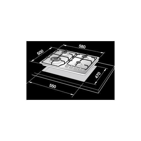 DE LONGHI YTF 46 ASV Piano Cottura a Gas 4 Zone Colore Terre de France