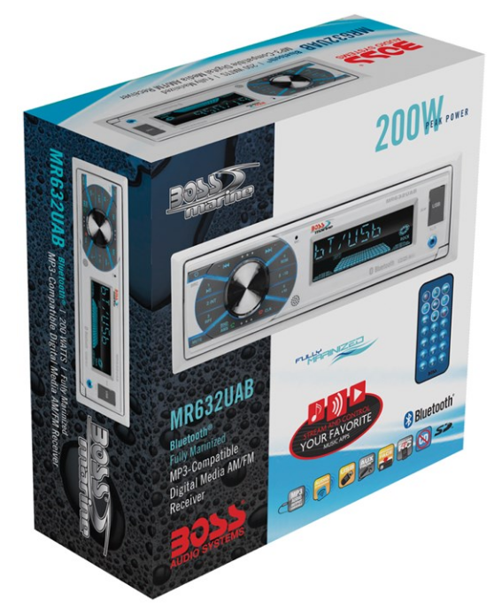 Stereo MCK632WB.6 Package di BOSS MARINE - Offerta di Mondo Nautica  24