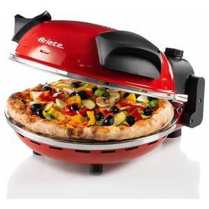 ARIETE Fornetto Pizza 909 con Temperatura Massima di 400 gradi Colore Rosso
