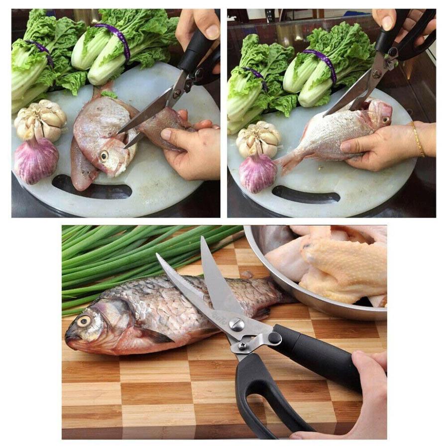 Forbice da Cucina Multiuso Lame Taglia Carne Pesce Pizza Verdure Ortaggi Pollo
