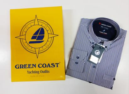 Green Coast camicia righe mare