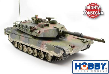 Carro Armato M1A1 Abrams Tank Military RC Radiocomandato 2.4G Premium Label di HOBBY ENGINE