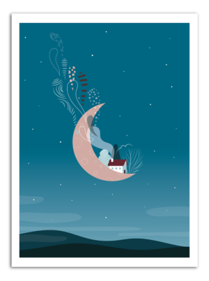 MOON - Stay Art Print
