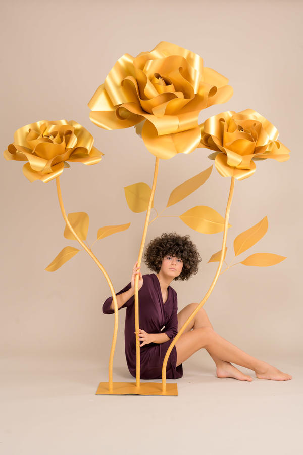 Paper Flowers Self-standing Collection - Rose in carta 70/50/50 cm autoportanti