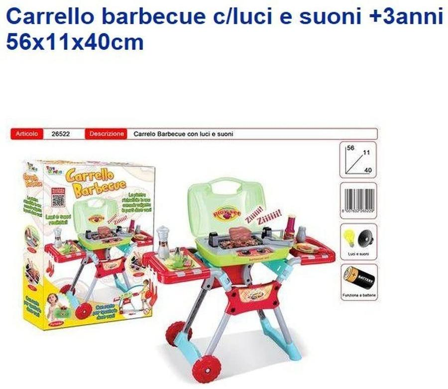Carrello Barbecue con luci e suoni - Toys Garden TG-MFT-01 - 3+ anni