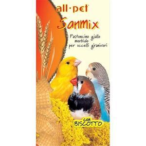 All Pet Sanmix Pastoncino Giallo Morbido con Biscotto per Uccelli granivori -5 kg.