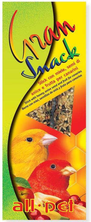 All Pet Gran Snack Stick Miele Mela Semi di Anice per canarini - 60 gr.