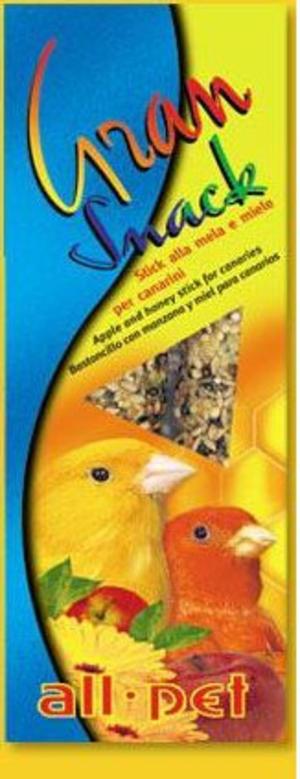 All Pet Gran Snack Stick Miele Mela per canarini - 60 gr.