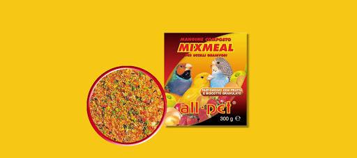 All Pet Mix Meal Pastoncino con Frutta e Biscotto Granulato per Uccelli Granivori - 300 gr.