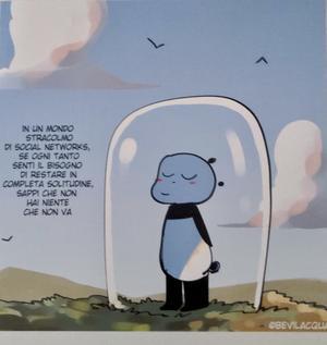 A PANDA PIACE, MINI PRINT cm20x20: SOCIAL