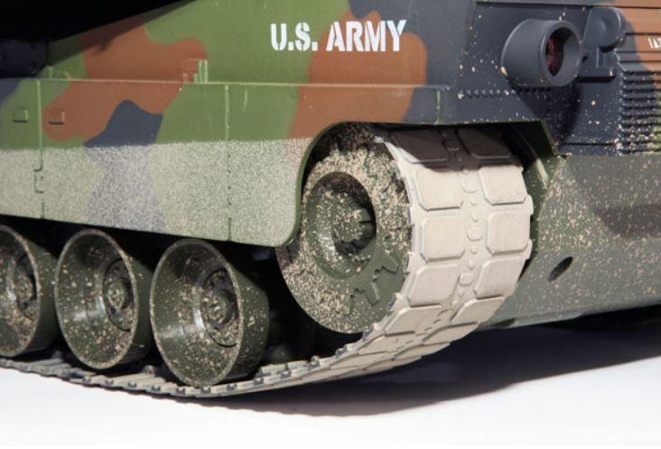 Carro Armato M1A1 Abrams Bullet Shooting Tank Military RC Radiocomandato 2.4G Premium Label di HOBBY ENGINE