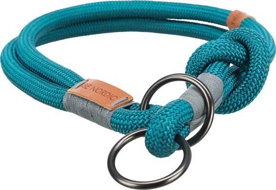 Trixie Be Nordic XL Collare Semistrozzo Per Cani Azzurro Tubolare 55 cm