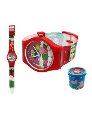 peppa pig orologio analogico in scatola